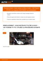 Tutoriel PDF étape par étape sur le changement de Filtre à Huile sur VW TOURAN (1T1, 1T2)