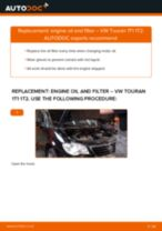 How to change engine oil and filter on VW Touran 1T1 1T2 – replacement guide