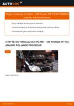 Bilmekanikers rekommendationer om att byta VW Touran 1t3 2.0 TDI Oljefilter