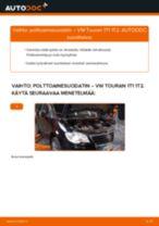 Kuinka vaihtaa polttoainesuodatin VW Touran 1T1 1T2-autoon – vaihto-ohje
