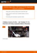 Ako vymeniť motorové oleje a filtre na VW Touran 1T1 1T2 – návod na výmenu