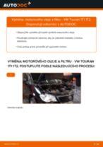 Jak vyměnit motorový olej a olejový filtr na VW Touran 1T1 1T2 – návod k výměně