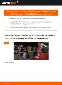 Comment effectuer un remplacement de Amortisseurs sur 1.2 Renault Twingo 1