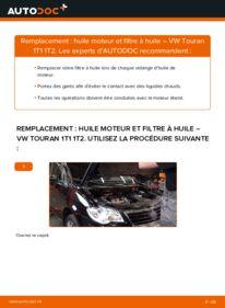Comment effectuer un remplacement de Filtre à Huile sur 1.9 TDI VW Touran 1