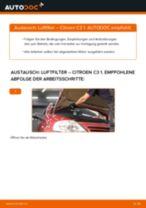 Wie Citroen C3 1 Luftfilter wechseln - Anleitung