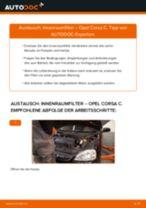 Wie Opel Corsa C Innenraumfilter wechseln - Anleitung