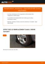 Comment changer : amortisseur arrière sur Opel Zafira B A05 - Guide de remplacement
