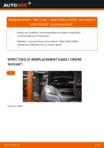 Comment changer : filtre à air sur Opel Zafira B A05 - Guide de remplacement
