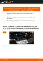 PDF manuel de remplacement: Filtre à huile AUDI A4 Avant (8E5, B6)