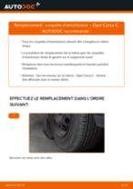 Comment changer : coupelle d'amortisseur avant sur Opel Corsa C - Guide de remplacement