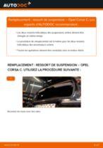 Comment changer : ressort de suspension arrière sur Opel Corsa C - Guide de remplacement