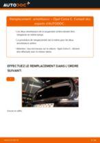 Comment changer : amortisseur arrière sur Opel Corsa C - Guide de remplacement