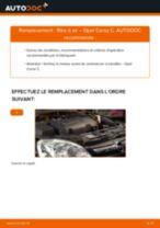 Comment changer : filtre à air sur Opel Corsa C - Guide de remplacement