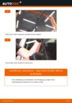 Udskift viskerblade for - Opel Zafira B A05 | Brugeranvisning