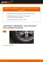Lær hvordan skifter Støddæmper bag på AUDI - gratis instruktionsbog