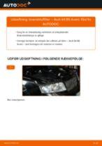 MANN-FILTER WK 853/3 x til A4 Avant (8E5, B6) | PDF udskiftnings guide