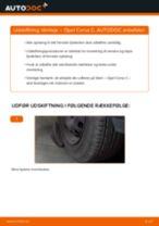 Udskift tårnleje for - Opel Corsa C | Brugeranvisning