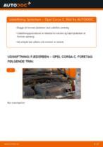 Udskift fjederben for - Opel Corsa C | Brugeranvisning