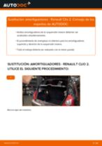 Cambio Kit amortiguadores delanteros y traseros RENAULT bricolaje - manual pdf en línea