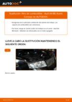 Cómo cambiar Filtro de Combustible diesel AUDI A4 Avant (8E5, B6) - manual en línea