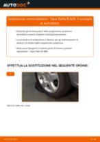 Come cambiare ammortizzatori della parte posteriore su Opel Zafira B A05 - Guida alla sostituzione
