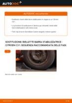 Come cambiare biellette barra stabilizzatrice della parte anteriore su Citroen C3 1 - Guida alla sostituzione