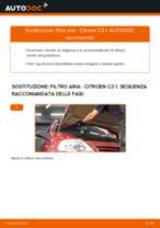 Sostituzione Filtro aria motore CITROËN C3: pdf gratuito
