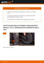 Come cambiare biellette barra stabilizzatrice della parte anteriore su Renault Clio 2 - Guida alla sostituzione