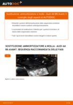 Come cambiare ammortizzatore a molla della parte anteriore su Audi A4 B6 Avant - Guida alla sostituzione