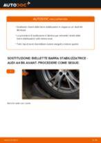 Come cambiare biellette barra stabilizzatrice della parte anteriore su Audi A4 B6 Avant - Guida alla sostituzione