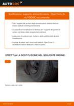 Come cambiare supporto ammortizzatore della parte anteriore su Opel Corsa C - Guida alla sostituzione