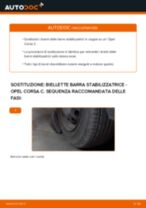 Come cambiare biellette barra stabilizzatrice della parte anteriore su Opel Corsa C - Guida alla sostituzione