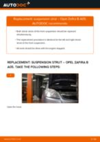 Replacing Shock absorbers on OPEL ZAFIRA B (A05) - tips and tricks