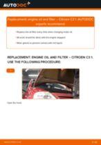 PDF replacement tutorial: Oil filter CITROËN C3 I Hatchback (FC_, FN_)