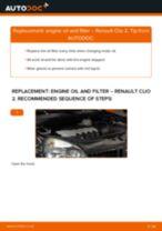 PDF replacement tutorial: Oil filter RENAULT CLIO II (BB0/1/2_, CB0/1/2_)