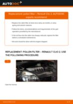 Auto mechanic's recommendations on replacing RENAULT RENAULT MEGANE II Saloon (LM0/1_) 1.9 dCi Pollen Filter