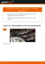 PDF replacement tutorial: Air filter OPEL Corsa C Hatchback (X01)