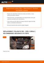 Auto mechanic's recommendations on replacing OPEL Opel Corsa S93 1.2 i 16V (F08, F68, M68) Pollen Filter