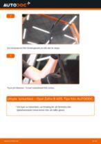 Byta torkarblad fram på Opel Zafira B A05 – utbytesguide