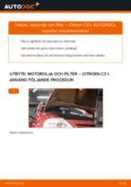 Byta motorolja och filter på Citroen C3 1 – utbytesguide