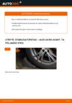 Byta stabilisatorstag fram på Audi A4 B6 Avant – utbytesguide