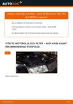 Byta motorolja och filter på Audi A4 B6 Avant – utbytesguide