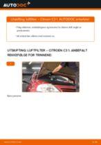 Slik bytter du luftfilter på en Citroen C3 1 – veiledning