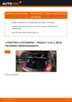 Skifte Fjærbein RENAULT CLIO: gratis pdf