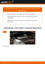 Bytte Støtdempere bak og foran RENAULT gjør-det-selv - manualer pdf på nett