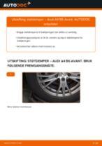 Slik bytter du støtdemper bak på en Audi A4 B6 Avant – veiledning