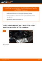 Slik bytter du fjærende ben fremme på en Audi A4 B6 Avant – veiledning