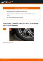 Slik bytter du stabilisatorstag fremme på en Audi A4 B6 Avant – veiledning