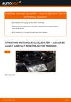 Slik bytter du motorolje og oljefilter på en Audi A4 B6 Avant – veiledning
