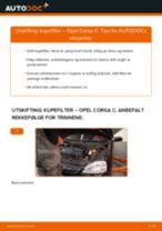 Slik bytter du kupefilter på en Opel Corsa C – veiledning